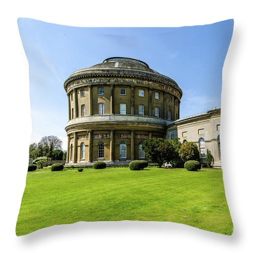 Young Girl Throw Pillow featuring the photograph Ickworth House, Image 5 by Jonny Essex