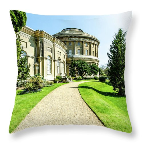 Young Girl Throw Pillow featuring the photograph Ickworth House, Image 6 by Jonny Essex