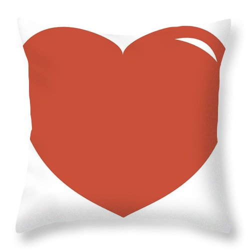 Watercolor Painting Throw Pillow featuring the digital art Illustration Of Pink Heart Shape Symbol by Dorling Kindersley