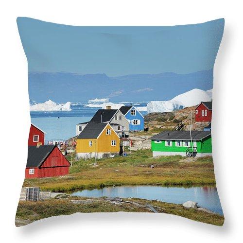 Ilulissat Icefjord Throw Pillow featuring the photograph Ilulissat by Cornelia Doerr