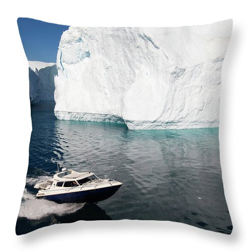 Scenics Throw Pillow featuring the photograph Ilulissat, Disko Bay by Gabrielle Therin-weise