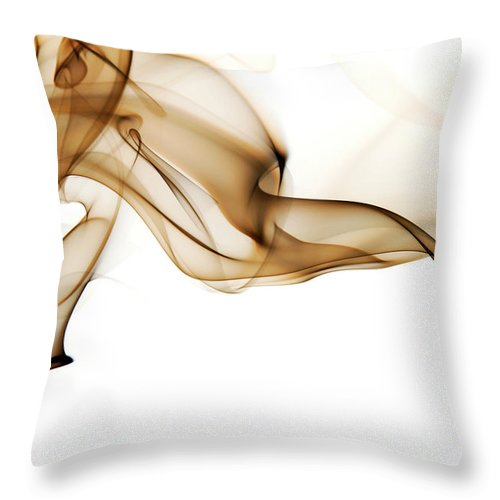 Art Throw Pillow featuring the photograph Image Of High Contrast Smoke Up Against by Guarosh