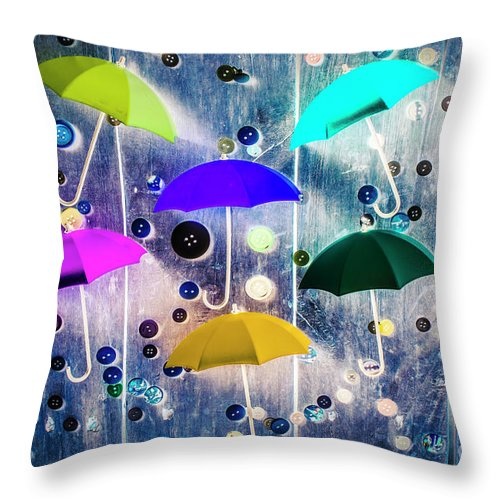 Artwork Throw Pillow featuring the photograph Imagination Raining Wild by Jorgo Photography - Wall Art Gallery