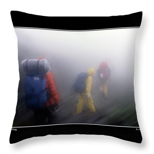Hike Throw Pillow featuring the photograph In The Clouds Poster by Wayne King