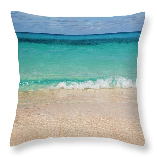 Water's Edge Throw Pillow featuring the photograph Indonesia, Waves Rolling In From Indian by Joe Mcbride