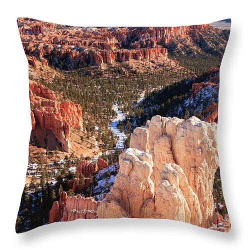 Tranquility Throw Pillow featuring the photograph Inspirational by Daniel Cummins