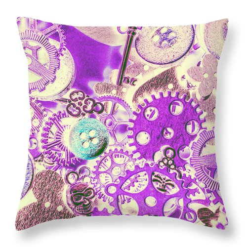 Industrial Throw Pillow featuring the photograph Interlocked by Jorgo Photography - Wall Art Gallery