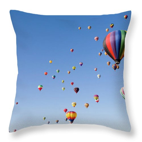 Event Throw Pillow featuring the photograph International Balloon Fiesta by Prmoeller