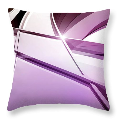 Curve Throw Pillow featuring the digital art Intersecting Three-dimensional Lines In by Ralf Hiemisch