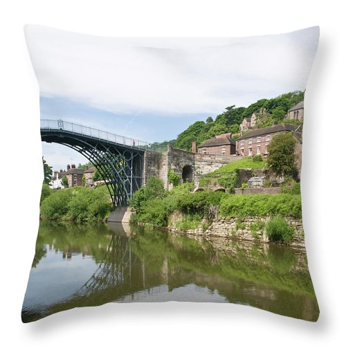 Arch Throw Pillow featuring the photograph Ironbridge In Telford by Dageldog