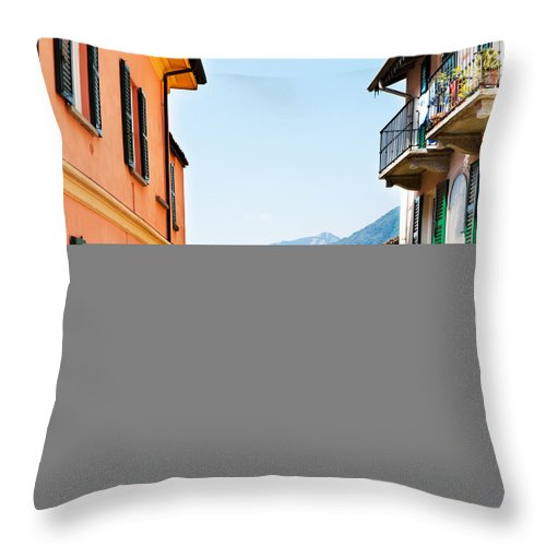 Italian Culture Throw Pillow featuring the photograph Italian Village by Tomml