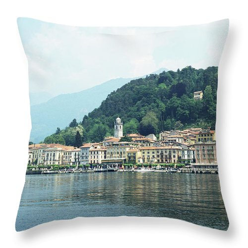 Outdoors Throw Pillow featuring the photograph Italy, Lombardy, Bellagio On Lake Como by Andy Sotiriou