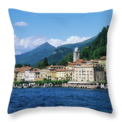 Scenics Throw Pillow featuring the photograph Italy, Lombardy, Bellagio by Vincenzo Lombardo