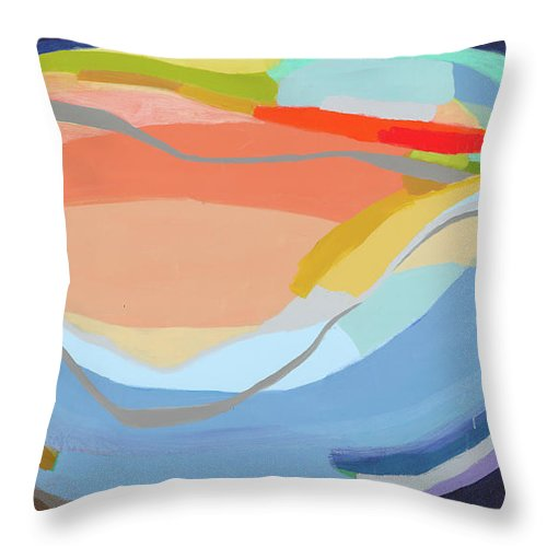 Abstract Throw Pillow featuring the painting It's A New Beginning by Claire Desjardins