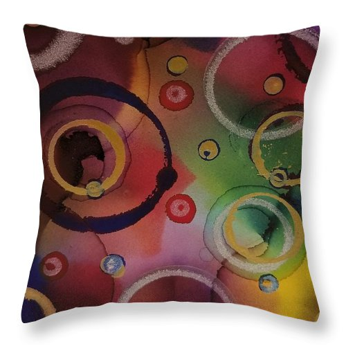 Art Throw Pillow featuring the painting Its so 1970 by Paulina Roybal