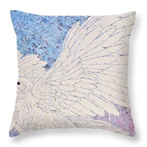 Asian Throw Pillow featuring the painting Japanese Modern Interior Art #141 by ArtMarketJapan