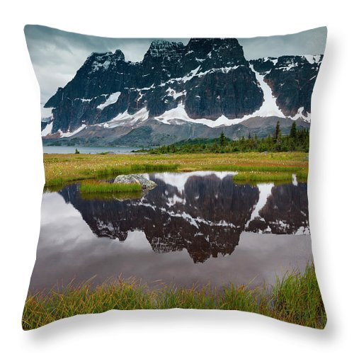 Unesco Throw Pillow featuring the photograph Jasper National Park, Alberta, Canada by Mint Images/ Art Wolfe