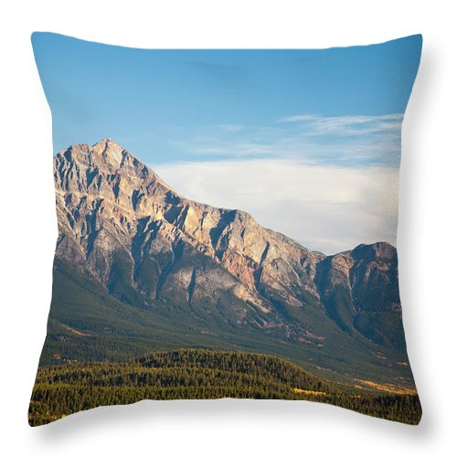 Scenics Throw Pillow featuring the photograph Jasper Valley by Abishome