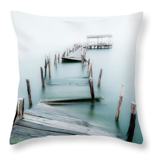 The End Throw Pillow featuring the photograph Jetty by Lt Photo