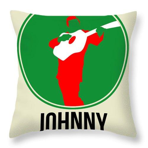 Johnny Cash Throw Pillow featuring the digital art Johnny Cash by Naxart Studio