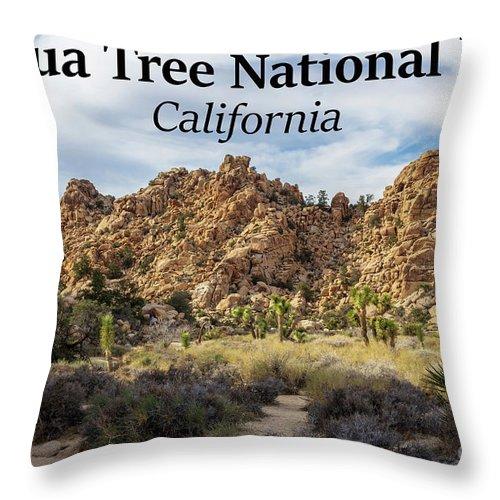 Joshua Tree National Park Throw Pillow featuring the photograph Joshua Tree National Park Box Canyon, California by G Matthew Laughton