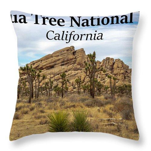 Joshua Tree National Park Throw Pillow featuring the photograph Joshua Tree National Park, California 03 by G Matthew Laughton
