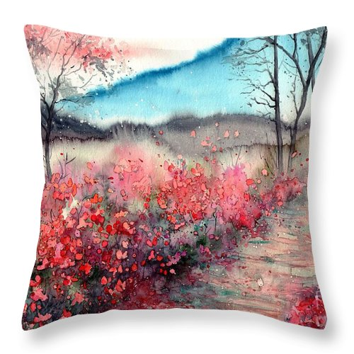 Dawn Throw Pillow featuring the painting Just Before Dawn by Suzann Sines