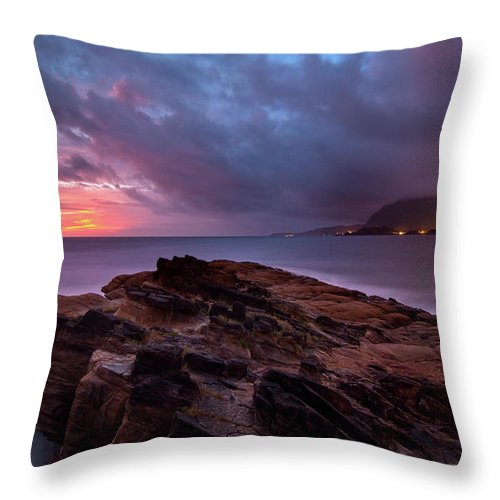 Scenics Throw Pillow featuring the photograph Keelung, Taiwan by Chia-hsing Wu