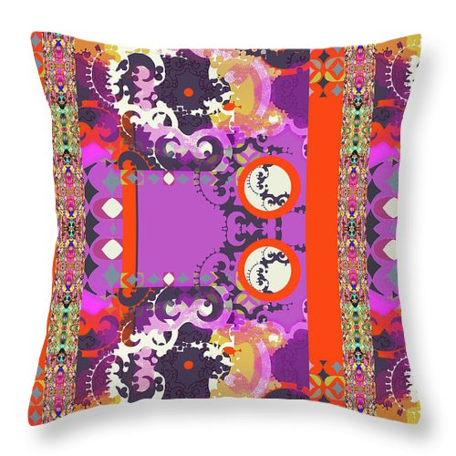 Hot Pink Throw Pillow featuring the digital art Kelly by Ceil Diskin