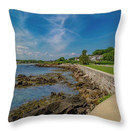 Kennebunkport Throw Pillow featuring the photograph Kennebunkport The Green Lively Life by Betsy Knapp
