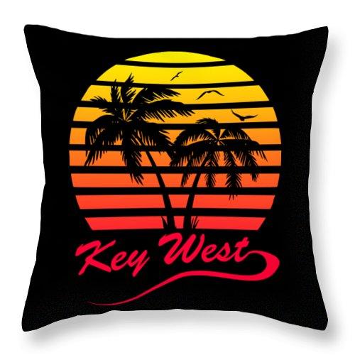 Key Throw Pillow featuring the digital art Key West by Filip Schpindel
