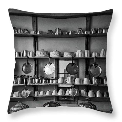 Hanging Throw Pillow featuring the photograph Kitchen Accessories, Saffron Walden by Helen Hooker