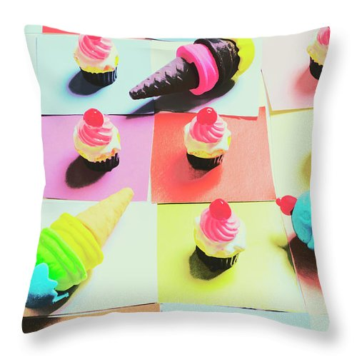 Confectionery Throw Pillow featuring the photograph Kitchen Chess by Jorgo Photography - Wall Art Gallery