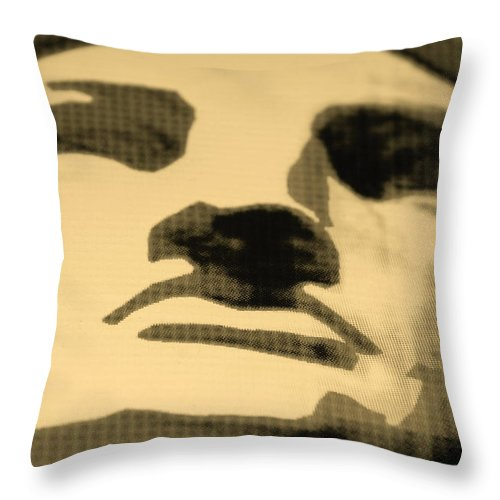 Statue Of Liberty Throw Pillow featuring the photograph Lady Liberty In Sepia by Rob Hans