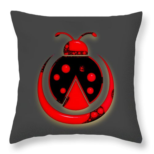 Ladybug Throw Pillow featuring the mixed media Ladybug Collection by Marvin Blaine