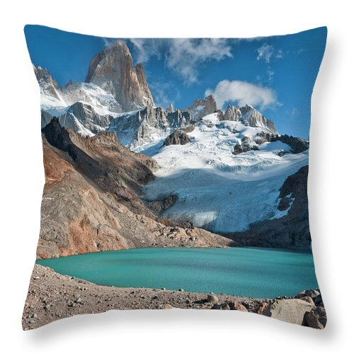 Scenics Throw Pillow featuring the photograph Laguna De Los Tres, El Chalten by Avinash Achar