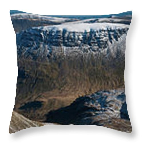 Scenics Throw Pillow featuring the photograph Lake District Striding Edge Helvellyn by Fotovoyager