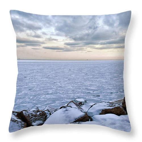 Tranquility Throw Pillow featuring the photograph Lake Michigan by By Ken Ilio