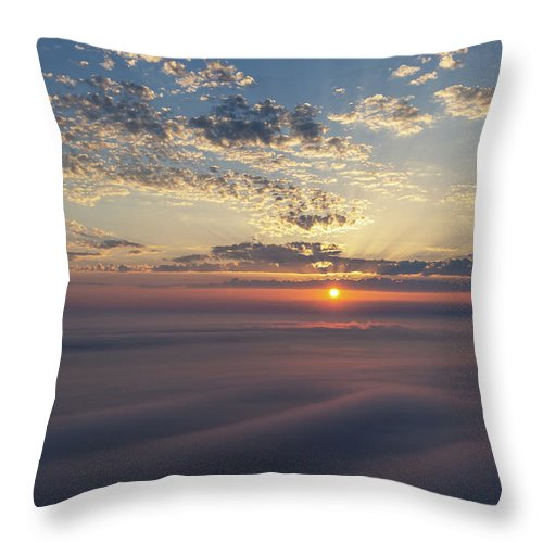 Sleeping Throw Pillow featuring the photograph Lake Michigan Overlook 15 by Heather Kenward