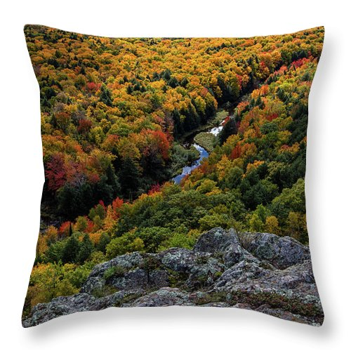 Lake Throw Pillow featuring the photograph Lake Of The Clouds 7 by Heather Kenward