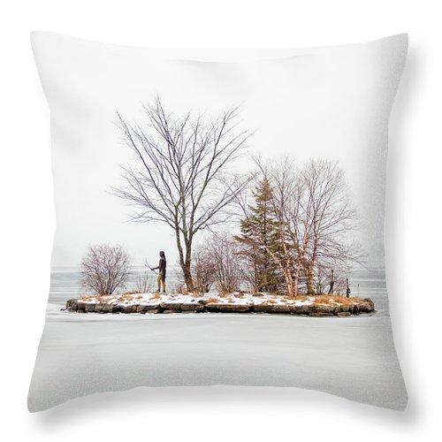 Lake Winnipesaukee Throw Pillow featuring the photograph Lake Winnipesaukee Indian Island Meredith New Hampshire by Trevor Slauenwhite