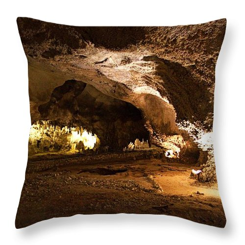 New Mexico Throw Pillow featuring the photograph Leaving The Big Room by Zeesstof