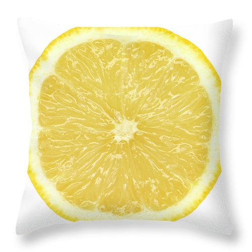 Limon Province Throw Pillow featuring the photograph Lemon by Suzifoo