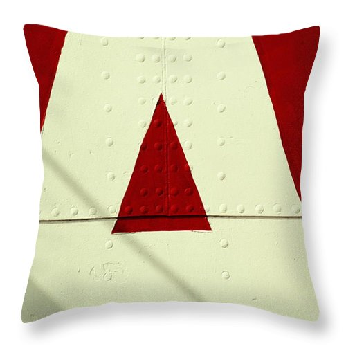 Baltimore Throw Pillow featuring the photograph Letters On Lightship, Detail by Harvey Lloyd