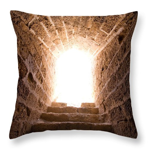 Steps Throw Pillow featuring the photograph Light At End Of The Tunnel by Kreicher