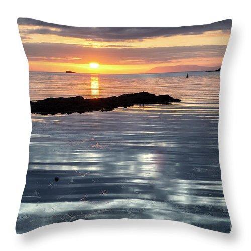 Lochmaddy Throw Pillow featuring the photograph Lochmaddy Sunrise by Richard Burdon