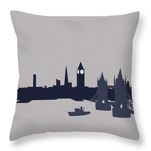 Part Of A Series Throw Pillow featuring the digital art London, Great Britain by Ralf Hiemisch