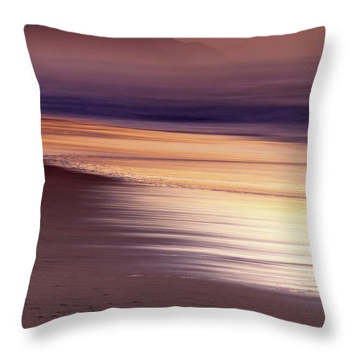 Tranquility Throw Pillow featuring the photograph Long Exposure Of Water At Dawn With by Emil Von Maltitz