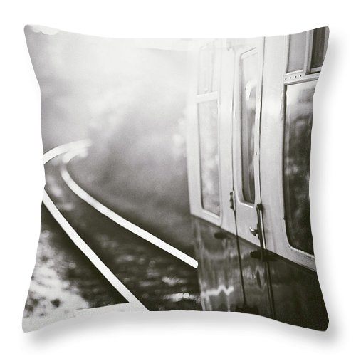 Train Throw Pillow featuring the photograph Long Train Running by James Homer