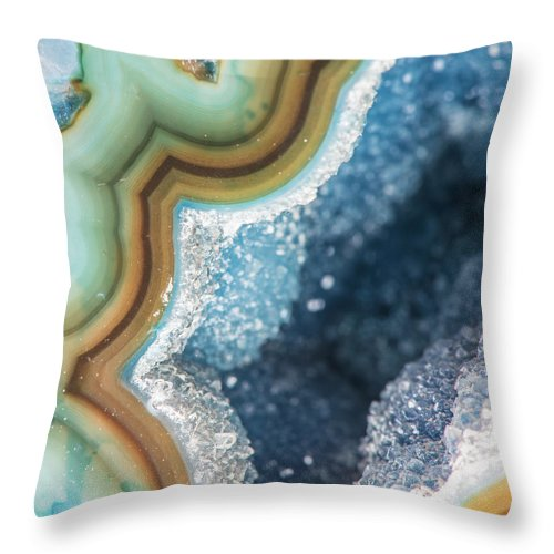 Volcanic Rock Throw Pillow featuring the photograph Macro Photography by John Lawson, Belhaven